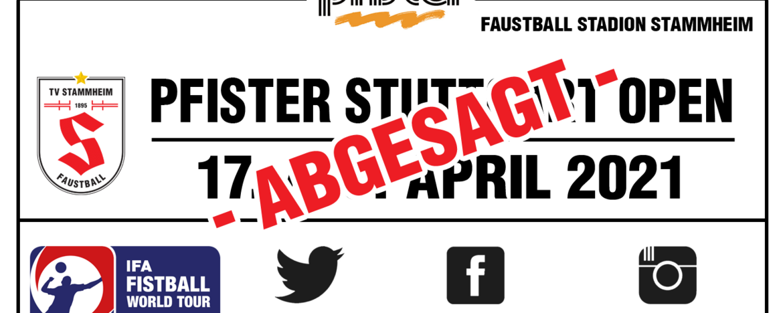 Pfister Stuttgart Open 2021 abgesagt