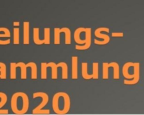 Abteilungsversammlung 2020