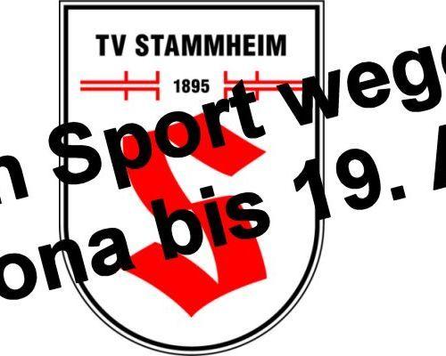Kein Sport beim TV Stammheim bis 19. April