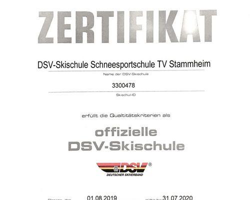 Schneesportschule weiterhin DSV-zertifiziert